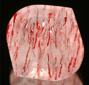 A beautiful specimen of natural strawberry quartz.